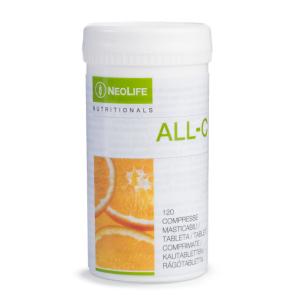 """""""All C"""" vitamino C maisto papildas, kramtomosios tabletės, """"NeoLife"""", 120 tab. - Nijolė Koskienė sveikatoszurnaliste.lt"""